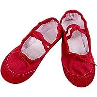 BAOHULU Baby Girls' Soft Dance Shoes Canvas Ballet Shoes for Girls Slipper Dance Shoes(Toddler Kid Girls )