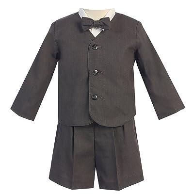 Lito Little Boys Charcoal Eton Short Formal Ring Bearer Easter Suit 2T-5
