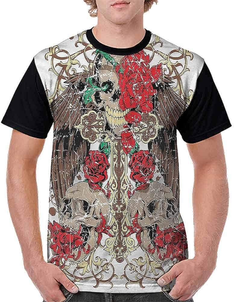BlountDecor Performance T-Shirt,Feathered Wings Feminine Fashion Personality Customization