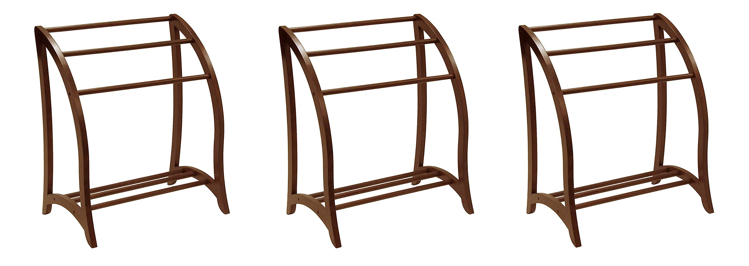 Winsome Wood Blanket Rack, Antique Walnut (Pack of 3)