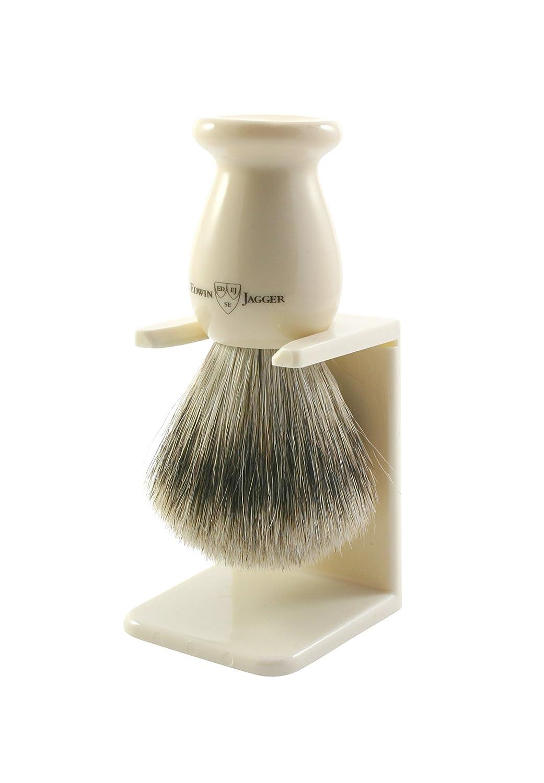 Edwin Jagger - Brocha de afeitar (con soporte, tamaño L, hecho a mano), color marfil Edwin Jagger ES 3EJ947LDSAMZ