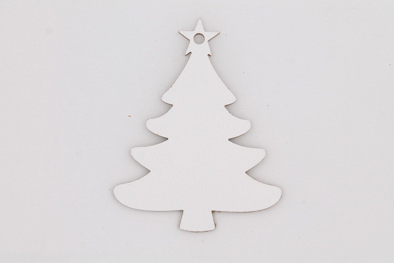 Decorazioni In Legno Per Albero Di Natale : Artigianeria set di 6 decorazioni natalizie in legno ideali per