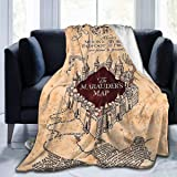 Ai Weier Extra Soft I Like Exercise Marauders Map Throw Blankets, Sherpa Flannel Travel Blanket Throw Wearable Blankets…
