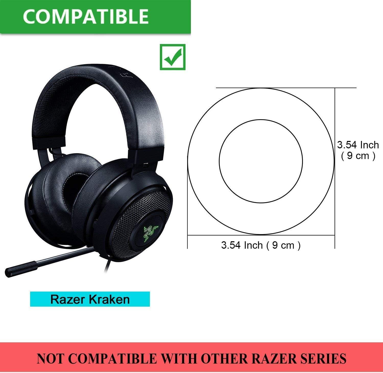 Black Replacement Ear Pad Cushion Cover Parts fit Razer Kraken Pro Gaming Headphone Earpad