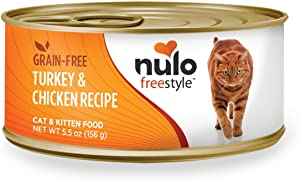 Nulo Adult & Kitten Grain Free Canned Wet Cat Food (Turkey & Chicken Recipe, 5.5 Oz, Case Of 24)
