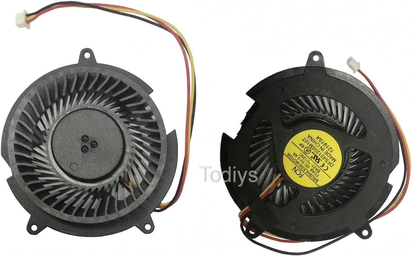 Todiys CPU Cooling Fan for HP DV5000 DV5100 DV5200 DV8000 DV8200 DV8300 DV8400 Compaq C300 C500 V5000 V5100 V5200 Series C506CA DV5017CL DV5163CL DV5224NR DV8040CA DV8213CL V5208CA DFB601005M20T