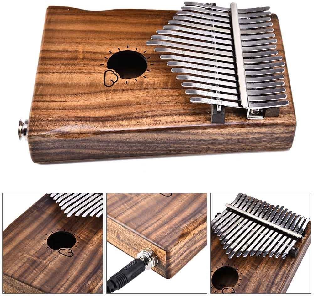 Finetoknow Kalimba フィンガー ピアノ 親指ピアノ 楽器 Kalimba 17キー Mbira 親指 ピアノ Likembe EVA高性能保護ボックス付き チューニングハンマー