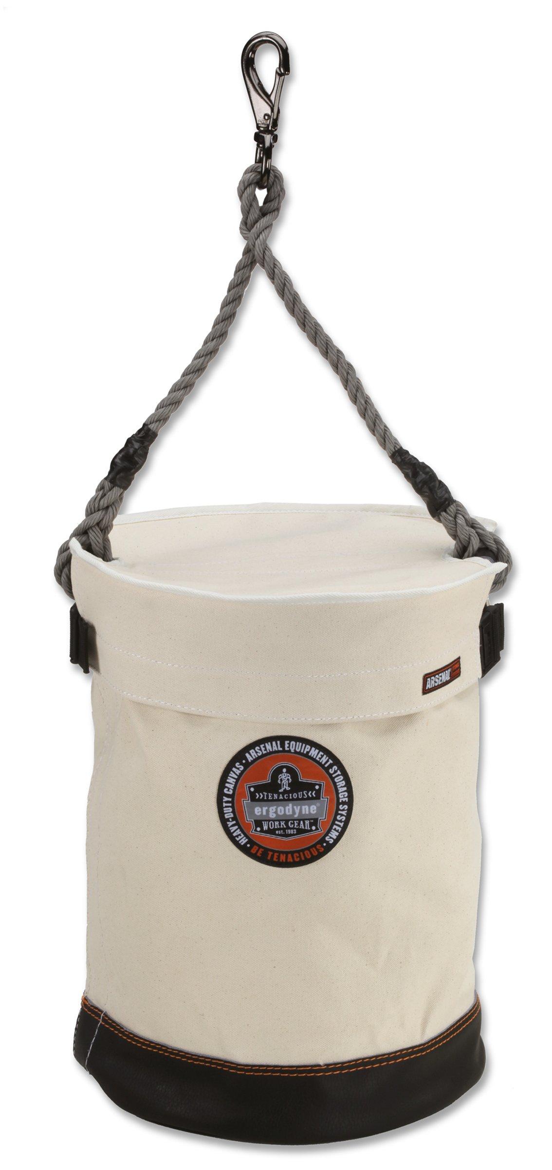 Ergodyne Arsenal 5740T Leather Bottom Tool Bucket with Cover, 12.5''D, 17''H by Ergodyne (Image #1)