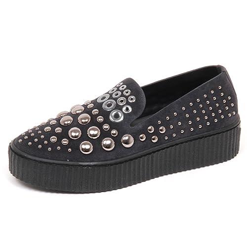 Pinko E6866 Sneaker Donna Dark Grey Scarpe Borchie Slip on Shoe Woman   Amazon.it  Scarpe e borse abfd9e7889f