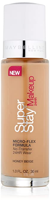 Amazon.com : Maybelline New York Super Stay 24Hr Makeup, Honey ...