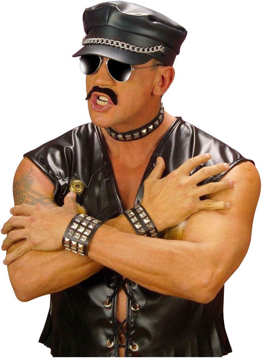 Unisex-Adult One Size Silver Punk Rock Choker and Bracelet Studded