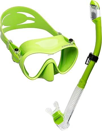 Odoland Kits de Plong/ée Set de Snorkeling pour Adultes et Adolescents Bleu//Rose Premium Set de Randonn/ée Aquatique Masque Anti-bu/ée et Tuba Semi-Sec