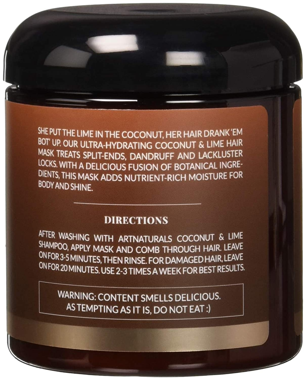 Amazon Com Artnaturals Coconut Lime Hair Mask 8 Ounce Health