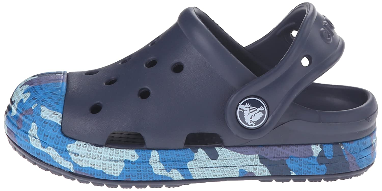 Crocs Kids - Bump It Camo Clog - Navy, Tamaño:24-25