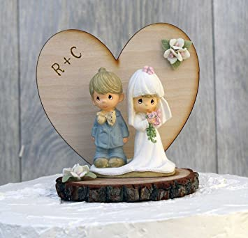 Personalized Precious Moments Rustic Wedding Cake Topper