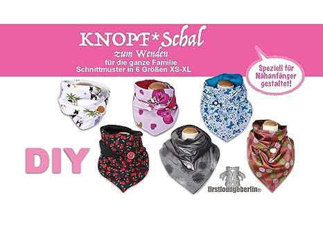 KNOPF-Schal auch zum Wenden in 5 Größen für die ganze Familie ...