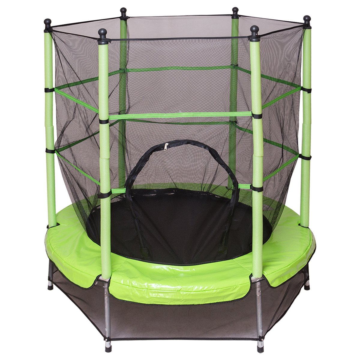 GOPLUS Trampolin Gartentrampolin Outdoor Indoor Trampolin Kindertrampolin Sprungmatte mit Sicherheitsnetz 160cm Farbwahl