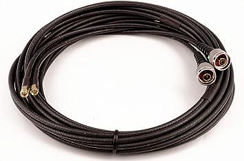 TWIN Cable Coaxial Para LTE/WiFi – Belden H155 de lsnh – N conector –