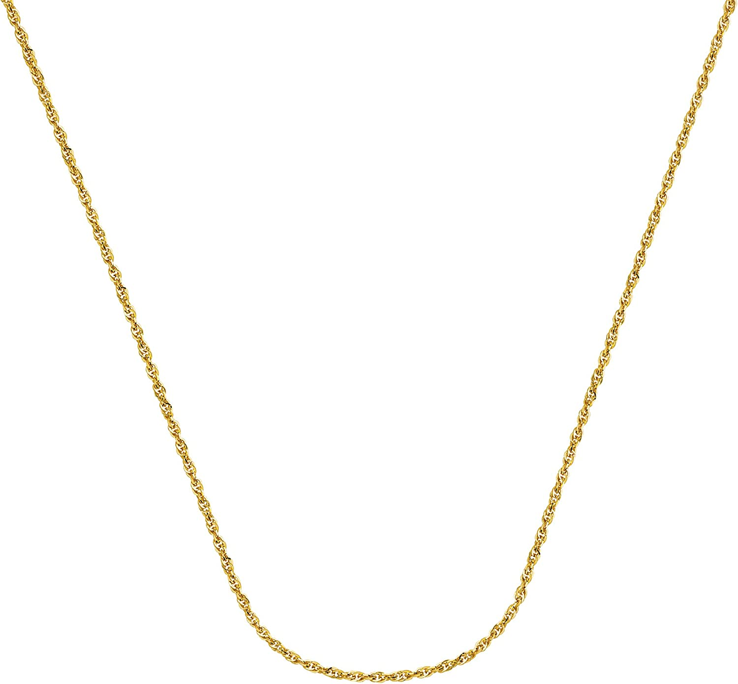 18 INCHES LONG 14KT GOLD ROPE CHAIN WITH LOBSTER LOCK ROPE CHAIN