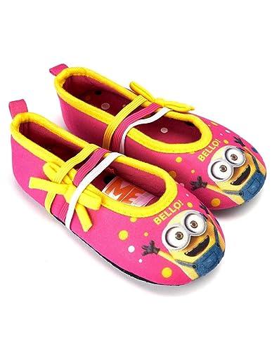 les minions Chaussons - Ballerines d intérieur Enfant Fille Rose Jaune du  24 au 31  Amazon.fr  Chaussures et Sacs 7bf8277af312