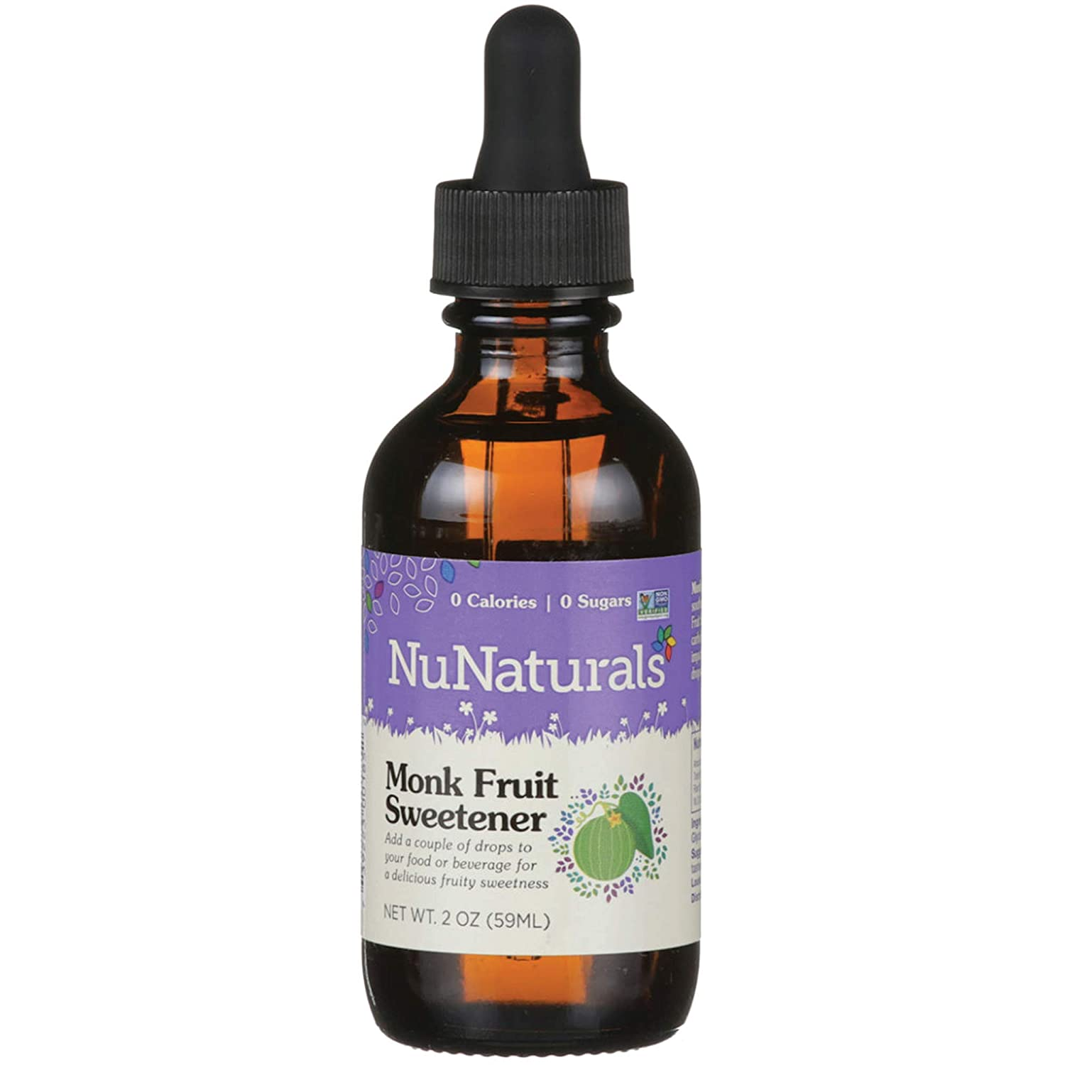 NuNaturals Monk Fruit Liquid Plant Based Sweetener, 2 Ounce