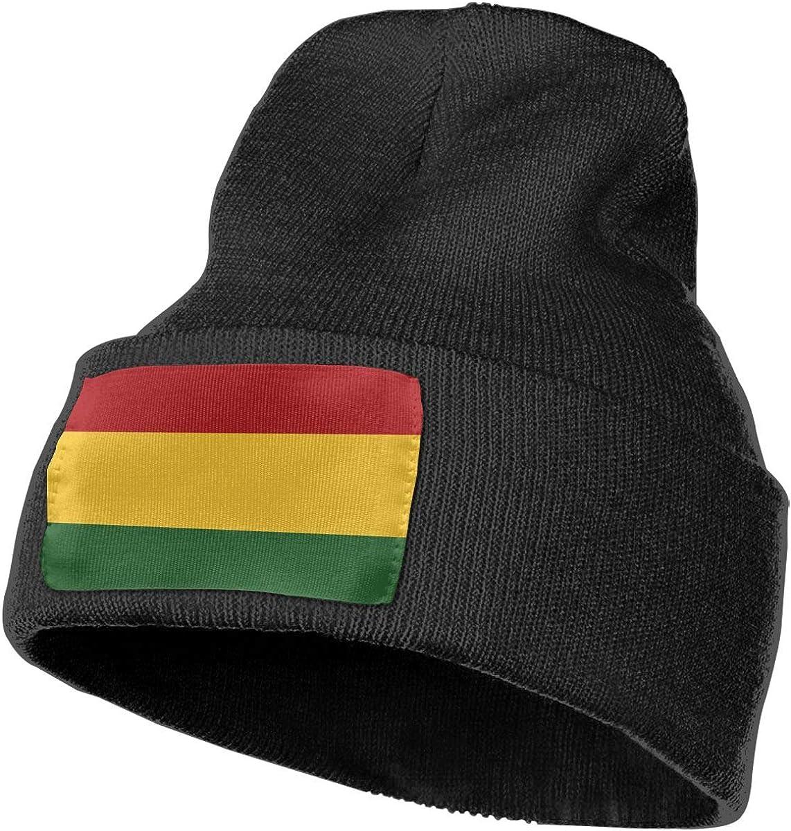 COLLJL-8 Unisex Rasta Flag Outdoor Fashion Knit Beanies Hat Soft Winter Knit Caps