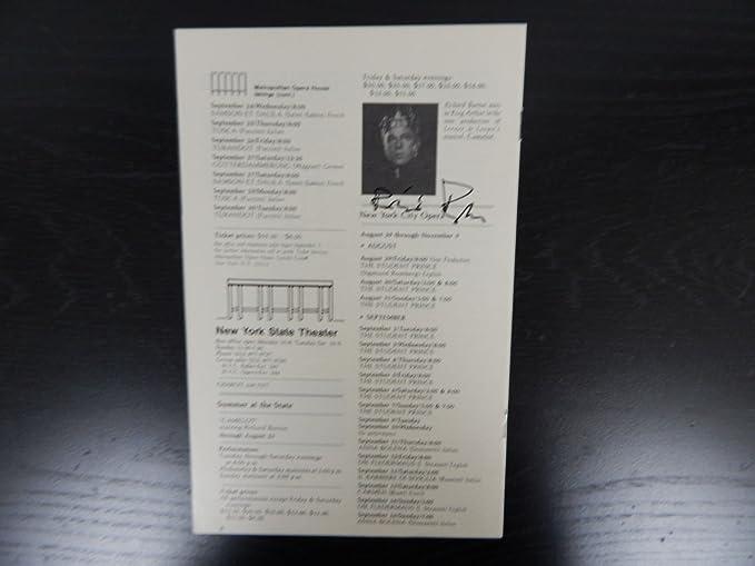 Richard Burton Hand Signed Theatre Program W/Todd Mueller COA at