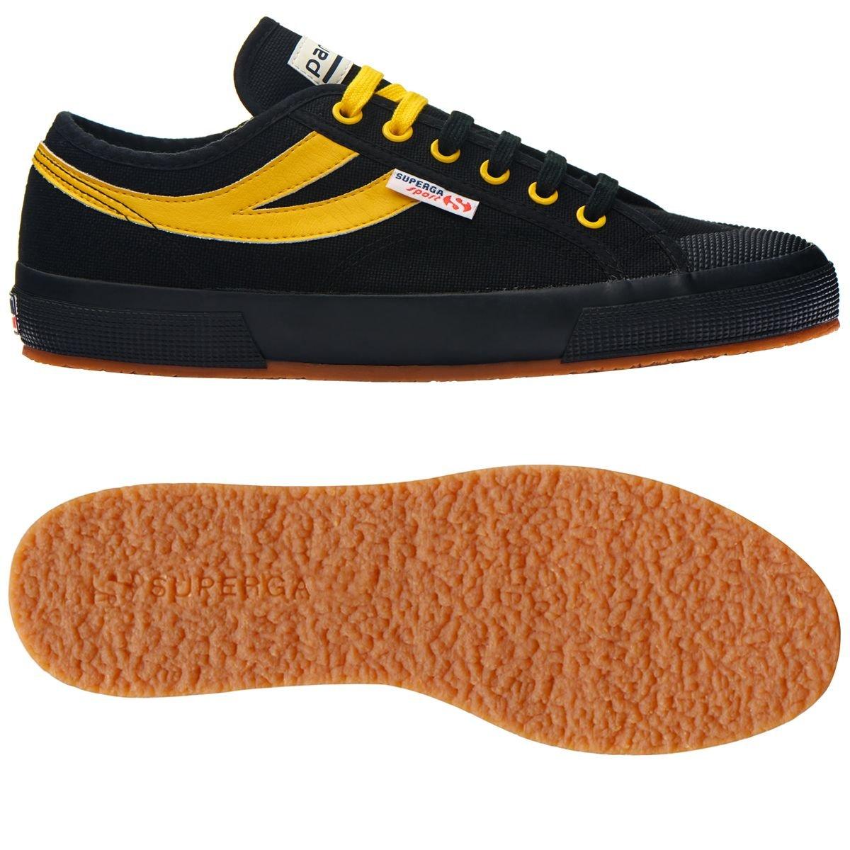 Superga 2750 Cotu Panatta, scarpe da ginnastica Unisex – Adulto nero-giallo | Qualità Affidabile  | Uomini/Donne Scarpa