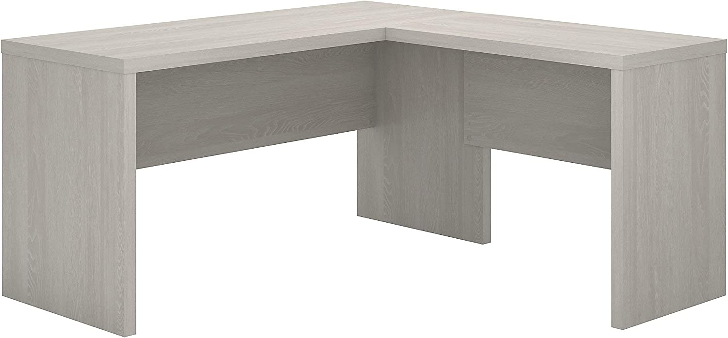 Bush Business Furniture Office by kathy ireland Echo L Shaped Desk, Gray Sand