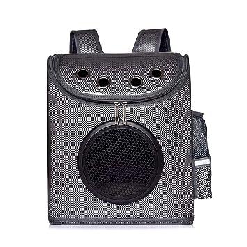 SZR Portador de Mochila para Mascotas Bolsa de Mascotas para Perros Pequeños Gatos Cachorros Conejito con diseño Respirable ventilado para Viajes de ...