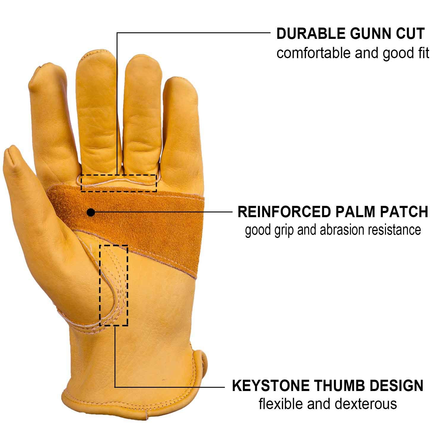 Vintage Classic Motorcycle gloves Driving Glove Head Layer Cowhide Leather Glove Summer Use yellow/_L