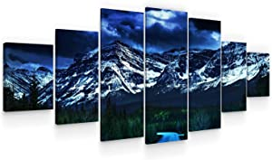 """Startonight Huge Canvas Wall Art - Road To The Mountains Large Framed Set of 7 40"""" x 95"""""""