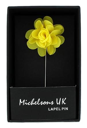 Yellow flower lapel pin amazon clothing yellow flower lapel pin mightylinksfo
