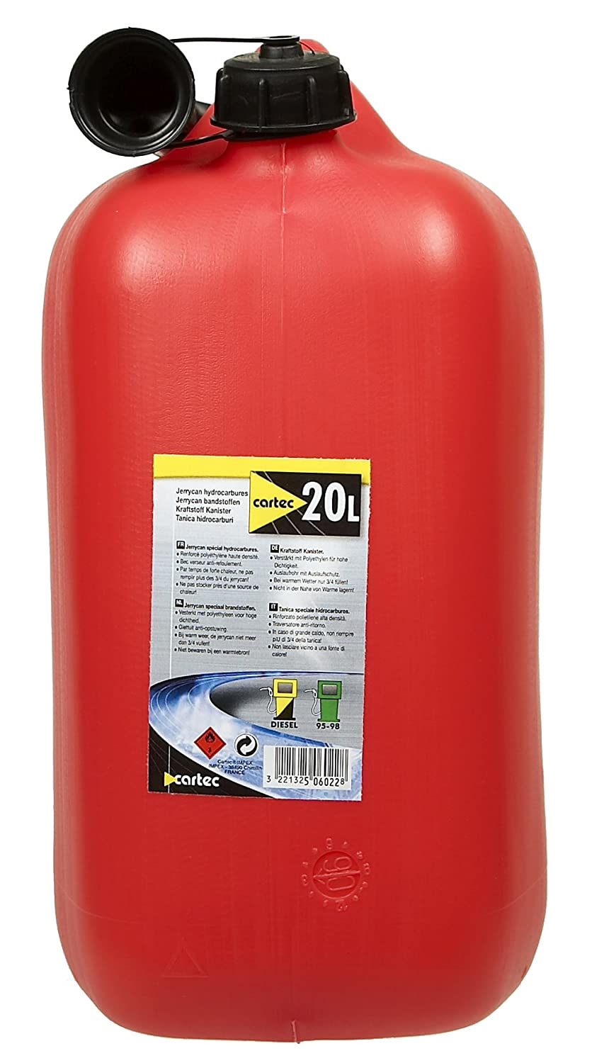 Cartec 506022 Jerrican Homologué Carburant 20 L low-cost