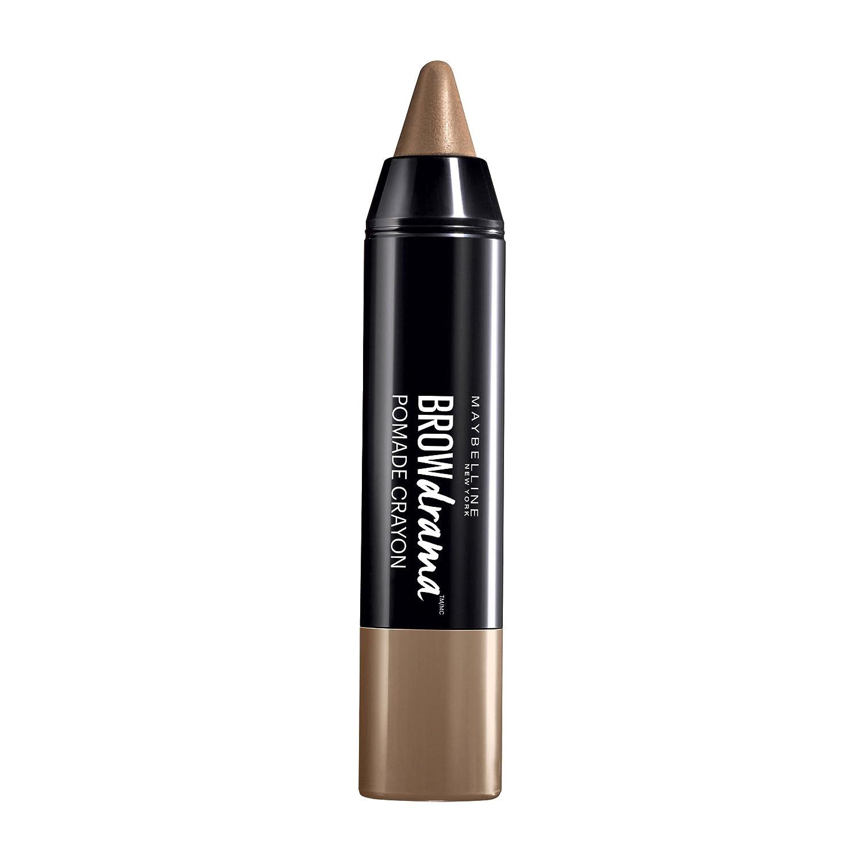 Maybelline Brow Drama Pomade Crayon in Dark Brown, Augenbrauenstift, zum Formen und Betonen von Augenbrauen, mit cremiger Textur, hoch pigmentiert, einfache Anwendung, 1,1 g Maybelline New York 3600531312671