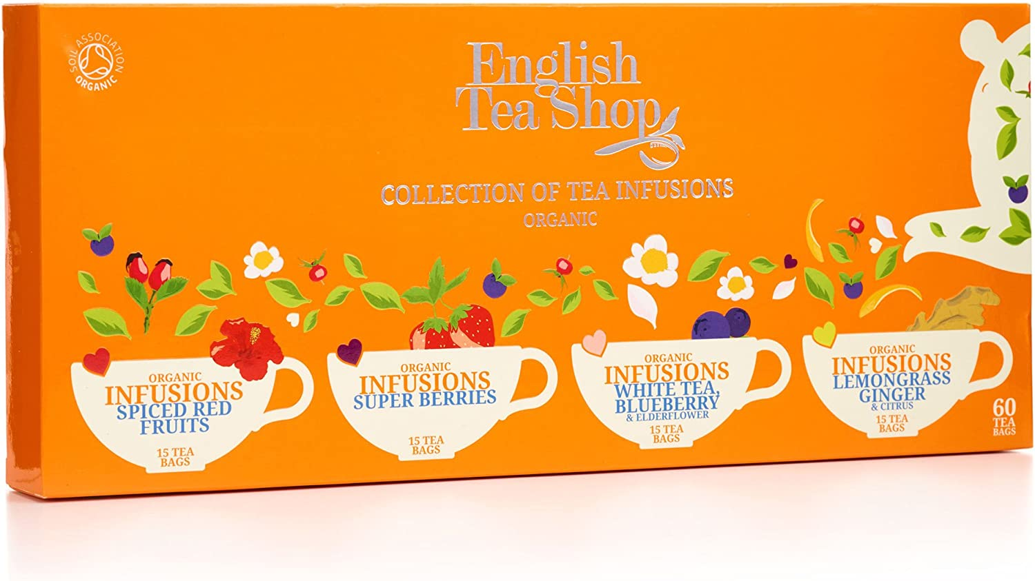 English Tea Shop Organic Infusion Tea Collection (Pack of 60 Tea ...