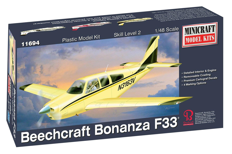 Minicraft Models MIN11694 1:48 Bonanza F-33, Multi