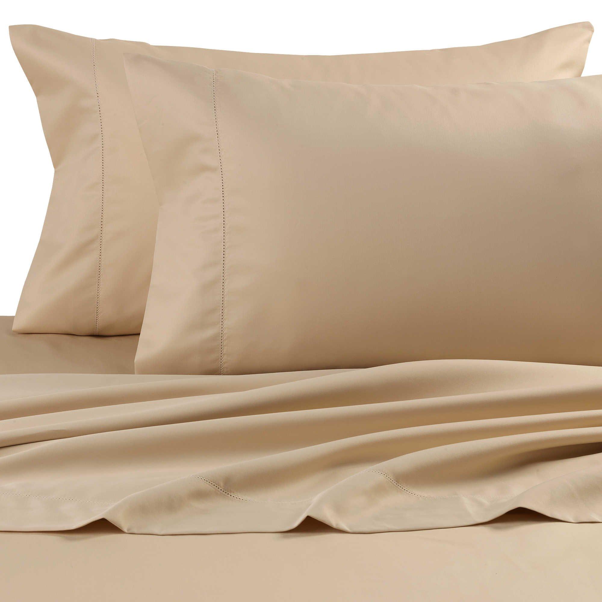 Wamsutta Dream Zone Chamois King Sheet Set, Dark Cream, 750 Thread Count