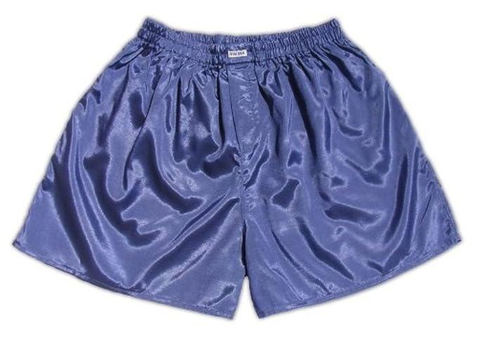 JATUJAKTHAI (XXL) gris azul hombres Boxer Shorts Ropa interior Ropa de Noche de Satén