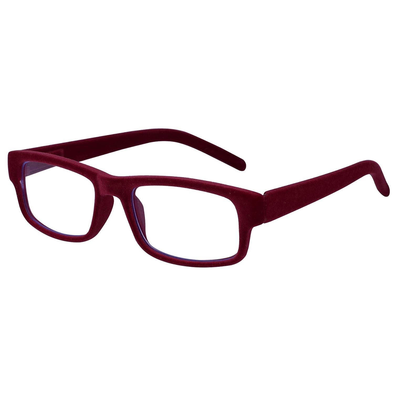 de9dae94376f Amazon.com  COCOSAND Velvet Presbyopia Glasses Reading Glasses with Blue  Light and Glare Blocking for Women   Man (Black Velvet