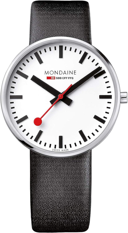 Mondaine Reloj Análogo clásico para Unisex de Cuarzo con Correa en Cuero MSX.4211B.LB