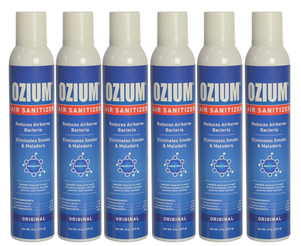 Ozium Air Freshener & Sanitizer (8 oz.) - Pack of 6 by Ozium