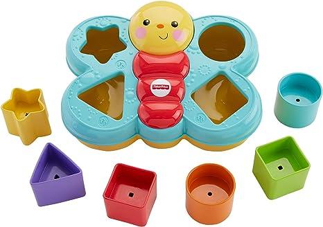 super mignon modélisation durable site web pour réduction Fisher-Price Trieur De Forme Papillon jouet bébé avec 6 blocs de 4 formes  différentes pour apprendre à trier et à empiler, 6 mois et plus, CDC22