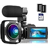 4K Camcorder Video Camera Vlogging Camera for YouTube Rosdeca Ultra HD 48.0MP WiFi Digital Camera IR Night Vision 3.0…