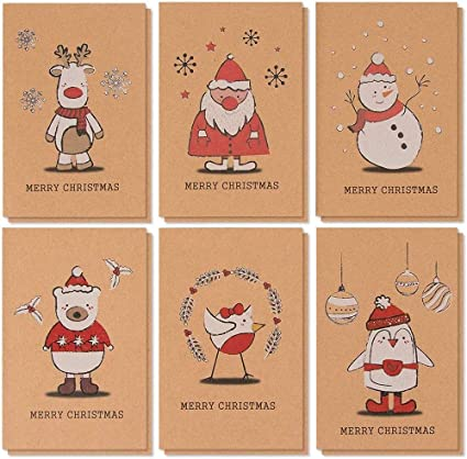 Cards & Card Stock Home & Garden Merry Christmas Cards 36 ...
