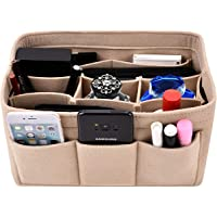 Purse organizer insert,Kumako Felt Bag Organizer Fit LV Neverfull-(PM,MM,GM),Speedy-(30.35.40),Longchamp&Totes(3 SIZE)