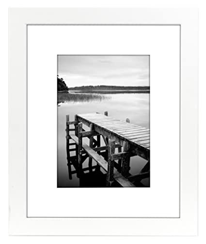Amazon.com - Americanflat 8x10 White Picture Frame - Matted to ...