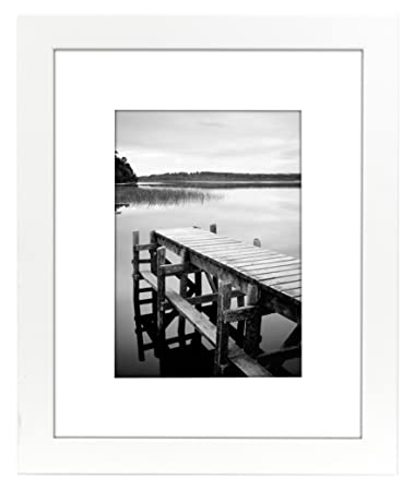 Amazoncom Americanflat 8x10 White Picture Frame Matted To