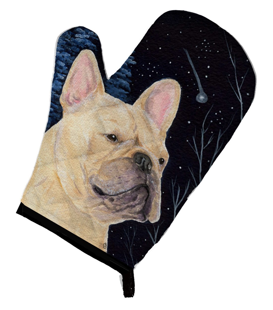Caroline's Treasures SS8441OVMT Starry Night French Bulldog Oven Mitt, Large, multicolor