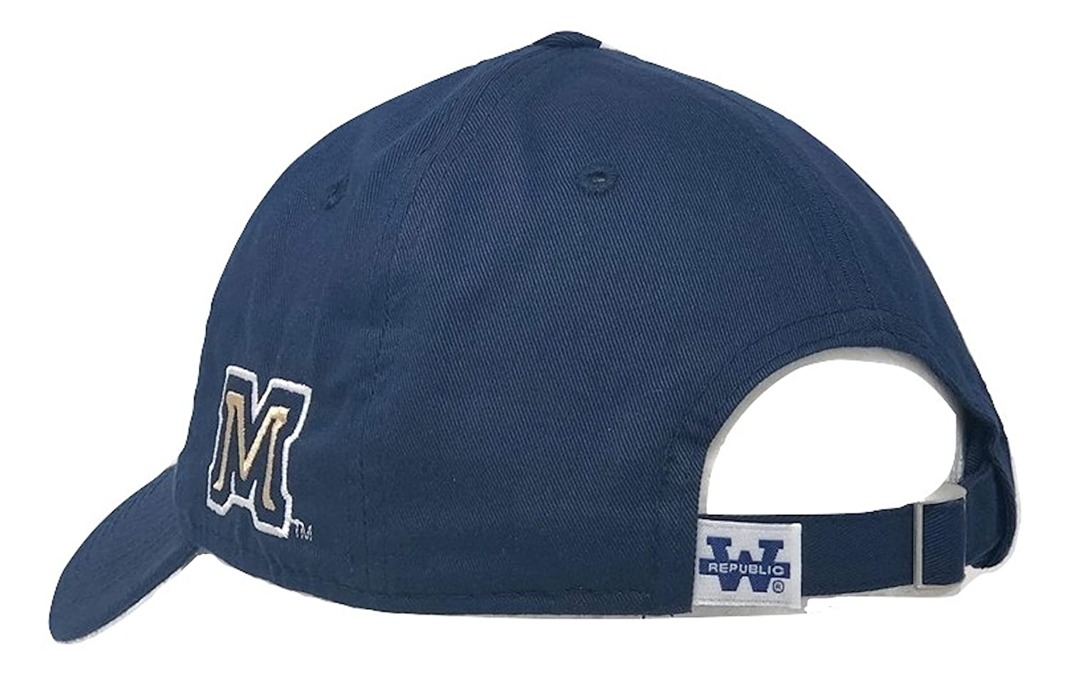 BHFC Montana State University MSU Bobcats Cotton Polo Style Relaxed Baseball Cap Hat Blue
